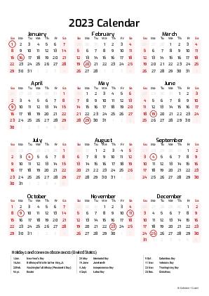 2023 And 2022 Calendar With Holidays.Printable 2022 Calendars Pdf Calendar 12 Com